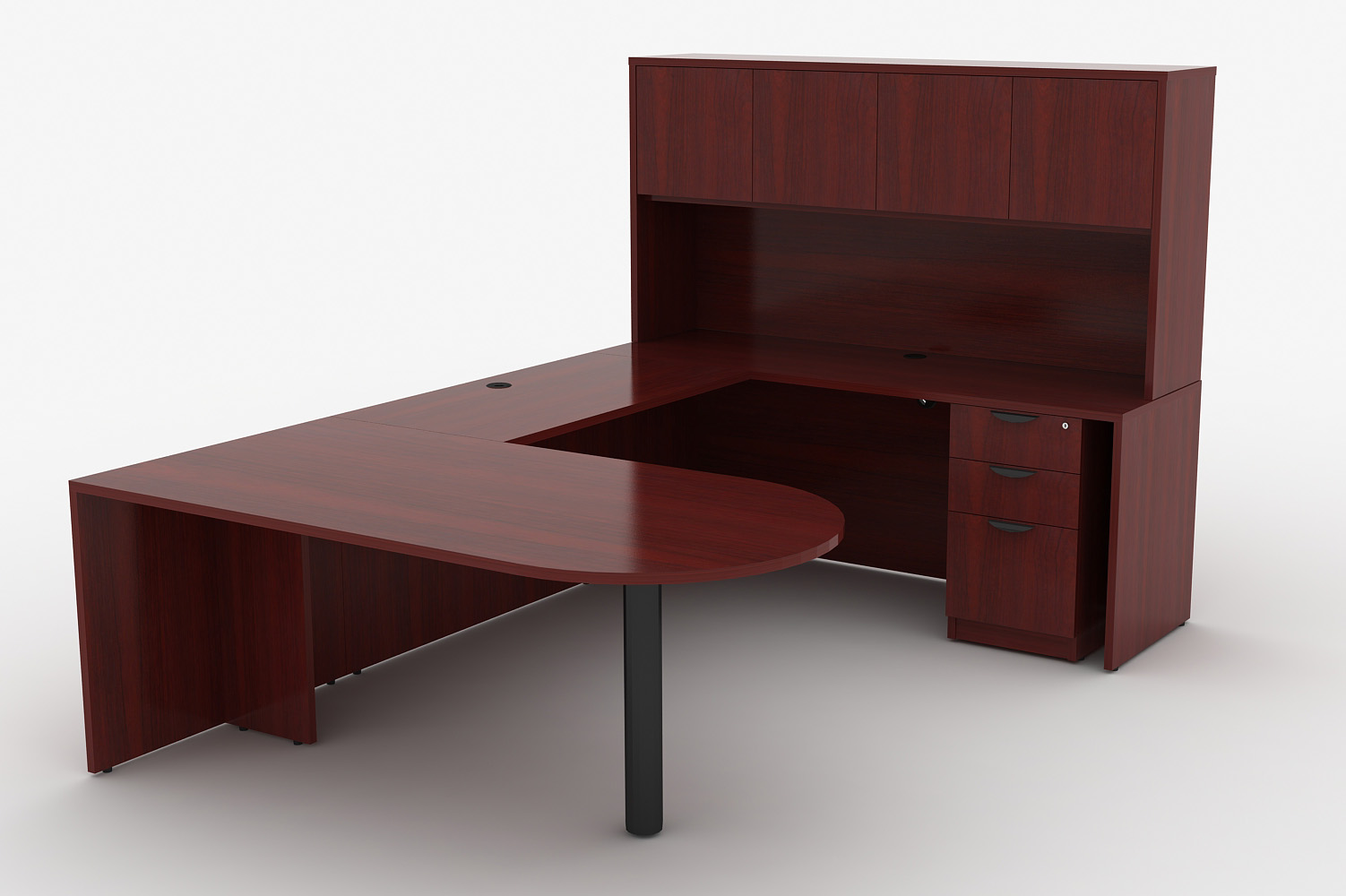 03 fice Desks EXECUTIVE DESK WITH HUTCH
